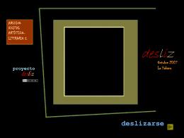 Diapositiva 1 - El blog como propuesta didáctica