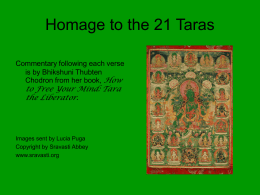 Homage to the 21 Taras - Bhikshuni Thubten Chodron
