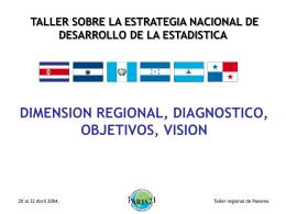 Dimensión Regional, Diagnostico, Objetivos, Visión