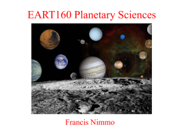 Week 4 - Earth & Planetary Sciences