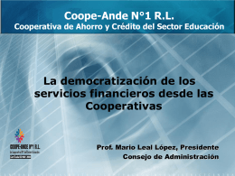 Coope-Ande N°1 R.L. Cooperativa de Ahorro y Crédito del Sector
