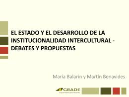 Descargue la presentación de María Balarin y Martín Benavides