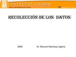 15. RECOLECCIaN DE LOS DATOS - pits-bi-real-time