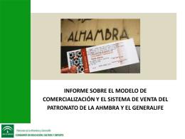 modelo de comercialización - La Alhambra y el Generalife