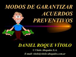 modos de garantizar acuerdos preventivos