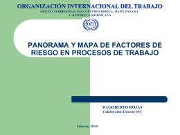PANORAMA Y MAPA DE LOS FACTORES DE RIESGO