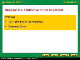 Gramática 1 Ir a + infinitive in the imperfect