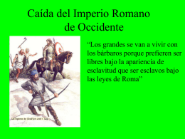 12 Caida del Imperio Romano de Occidente