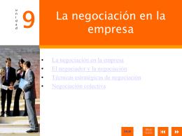 9. La negociación en la empresa