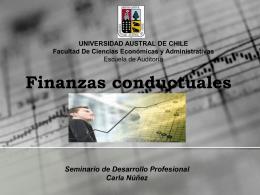 Finanzas conductuales - MBA & Educación Ejecutiva