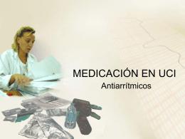MEDICACIÓN EN UCI