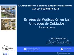 Errores de Medicación en la Unidades de Cuidados Intensivos