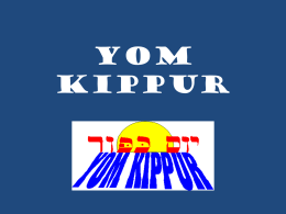 YOM KIPPUR. Estudio en power point