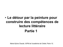 diaporama partie 1 - ESPE de l`Académie de Créteil