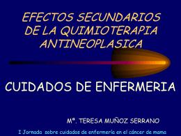 Efectos secundarios de quimioterápia. Cuidados enfermería. ( 0.5