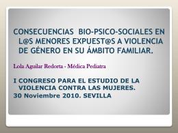 Violencia de género - Congreso Violencia