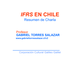 ifrs en chile - Gabriel Torres Salazar