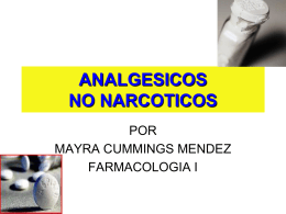 ANALGESICOS NO NARCOTICOS
