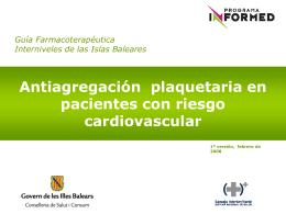 Antiagregación plaquetaria en pacientes con