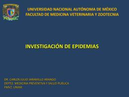 INVESTIGACIÓN DE EPIDEMIAS