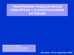 trastornos psiquiátricos conceptos y clasificaciones actuales