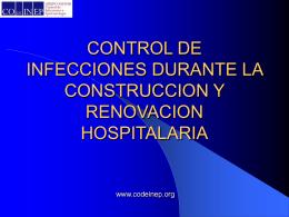 control de infecciones durante la construccion y renovacion
