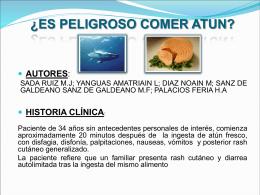 ¿Es peligroso comer atun fresco?