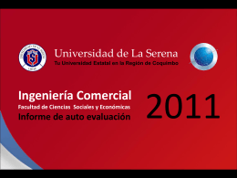 Carrera Facultad de -- Universidad de La Serena 2010