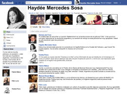 Haydée Mercedes Sosa - Orange Coast College