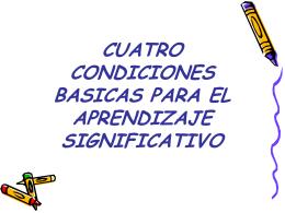 CONDICIONES BASICAS PARA EL APRENDIZAJE