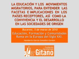 LAS COMUNIDADES ROMA Y LA EDUCACIÓN EN LA UE