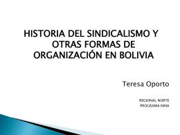 Historia sindicalismo - organizaciones