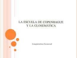 Glosemtica - linguisticageneral