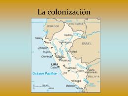 La colonizacion