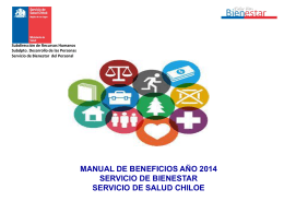 Manual de Beneficios Bienestar 2014