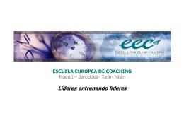 Líderes entrenando líderes. Presentación Escuela Europea