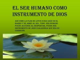 EL SER HUMANO COMO INSTRUMENT