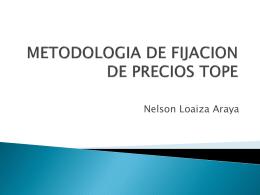 METODOLOGIA DE FIJACION DE PRECIOS TOPE