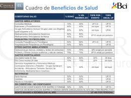Cuadro beneficios BCI 2014