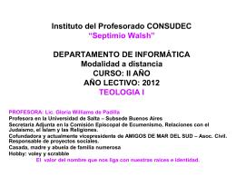 "Instituto del Profesorado CONSUDEC ""Septimio Walsh"