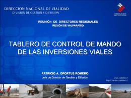 TABLERO DE CONTROL DE MANDO DE INVERSIONES