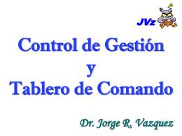 Clase 5 - Control de gestión Tablero de Comando