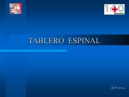 Tablero espinal2