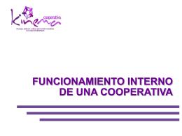 D. Rafael Mayoral. Funcionamiento interno de una cooperativa