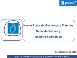 Presentación ppt nueva sede electrónica