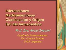 Interacciones Medicamentosas Clasificación y Origen