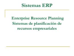 Sistemas ERP y su relación con la cadena de suministro