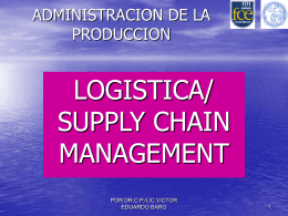 Logística / Supply Chain Management