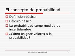 1.1.Introducción a la probabilidad