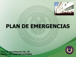 plan de emergencias del hospital